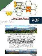 Batur Global Geopark Menuju Revalidasi 2016 - Presentasi Sekda Bangli - Yogya - 06 Agustus 2015