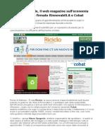 Nasce Riciclo, il web magazine sulle buone pratiche di gestione rifiuti