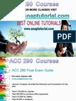 ACC 290 Academic Success/snaptutorial