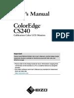 Eizo CS240 Manual