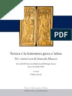 (Atti Della IX Giornata Ghisleriana Di Filologia Classica-Pavia 22 Ott. 2010) Fabio Gasti (a Cura Di)-Seneca e La Letteratura Greca e Latina-Pavia University Press (2013) (1)