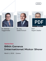 Speeches Audi Press Conference   Geneva International Motor Show 2016