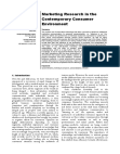Marketing Research in the Contemporary Consumer Environment
