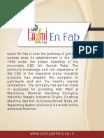 Laxmi en fab Pvt. Ltd. Gujarat India
