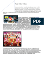 Trik Sukses Dalam Main Poker Online