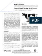 Ammonia Emissions and Animal Agriculture