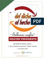 Informe Del Dicho Al Hecho - 1 Año Vázquez