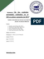 Análisis de Los Controles Perinatales Realizados en El CIC en Primer Semestre de 2013
