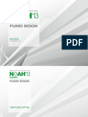 Noah2013 Fundbook Tech Start Ups Venture Capital
