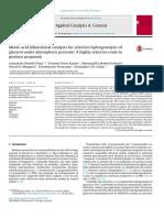 Metal-Acid Bifunctional Catalysts- Hogrogenacion de Clicerol