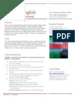 business english - syllabus
