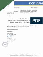 DCB Bank Ltd. & Annapurna Microfinance Company seal equity deal [Company Update]