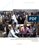 Final Workshop Report on Value Addition and Agroprocessing