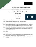 Conference Programme Hellenistic Central