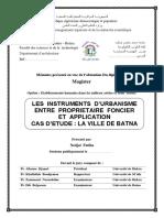 Les Instrument d'Urbanisme Entre Proprietaire Fonciers Et Application