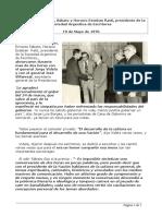 Las voces de Borges y Sábato-Respecto al Golpe del`76