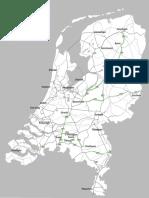 Kaart Nieuwe trajecten 130 vanaf 5 februari 2016