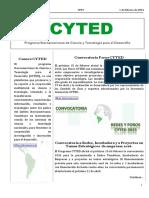 Boletín Cyted Nº29 2016 Web