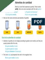 adverbios de cantidad