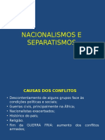 Nacionalismos e Separatismos (1)