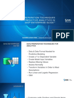 Data Preparation Techniques for Predictive Analytics