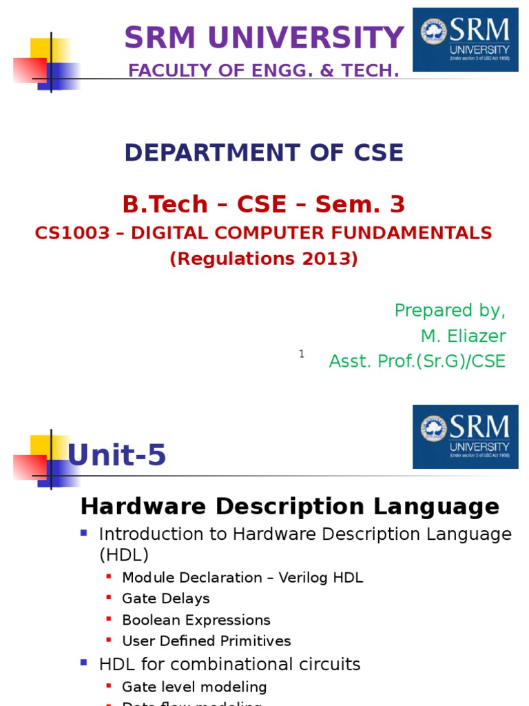 Systems Simulation Of 4bit Full Adder Circuit In Verilog Hdl Unit 5 Hardware Description Language Electronics