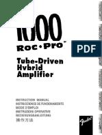 Manuale Roc Pro 1000