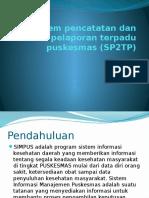 Sistem Pencatatan Dan Pelaporan Terpadu Puskesmas (SP2TP
