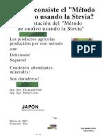 Metodo de Cultivo Usando La Stevia!