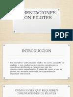 Cimentaciones Con Pilotes.