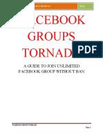 Facebook Groups Tornado