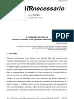 A Formação integrada - Ciavatta