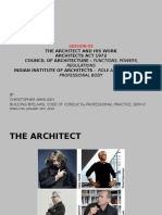 Architect and His Work and Architects Act 1972