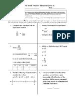 gr 4 unit 5a fractions   decimals