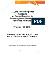 Prointer III 2015 1 Online TRH Manual de Elaboracao