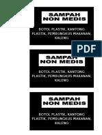 Label Tempat Sampah 2