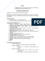 Embedded Unit-1 Notes