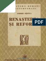 Andrei Otetea, Renasterea si Reforma