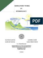 CE-341 Hydrology Lab Manual Final