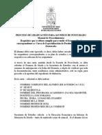 Proceso de Graduacion Para Alumnos de Postgrado Doc 145 Kb