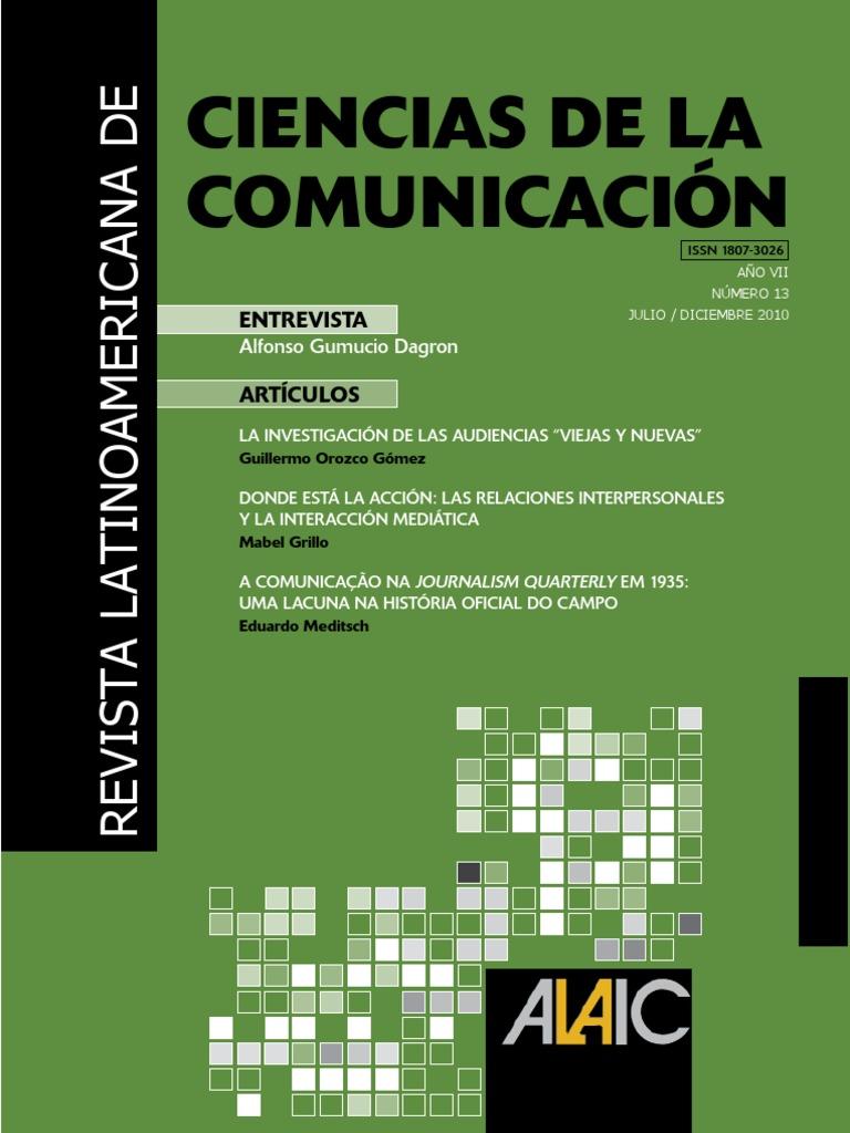 Alaic revista latinoamericana de ciencias de la comunicacion fandeluxe Image collections