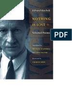 Edvard Kocbek, Nothing Is Lost - Selected Poems