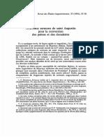 AUGUST_1991_37!1!37 Nouveaux Sermons de Saint Augustin Pour La Conversion Des Païens Et Des Donatistes