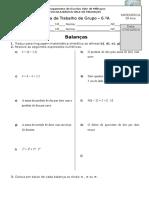 FT5 as Balanças-expressões Algébricas