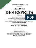 Allan Kardec Livre Des Esprits