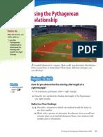 book 3 4 using the pythagorean relationship