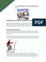 Herramientas o Instrumentos Para Realizar El Dibujo Tecnico