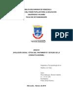 EVOLUCIÓN SOCIAL Y ÉTICA DEL TRATAMIENTO Y ESTUDIO DE LA CONDUCTA ANORMAL