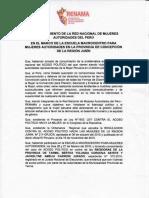 Pronunciamiento - Escuela Macrocentro de Mujeres Autoridades