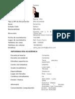 Información Personal Nombres